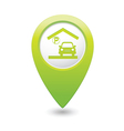Parking under roof icon map pointer green vector