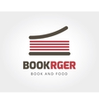 Abstract burger book logo template for branding vector