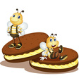Bee biscuits vector