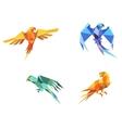 Origami parrots vector