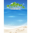 An island in the tropics vector