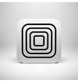 White abstract app icon template vector