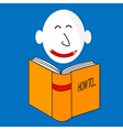 A happy book cartoon character vector