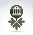 Banking symbol revenue sources concept speech vector