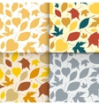 Falling leaves seamless patterns set vector