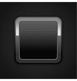 Metal web button vector