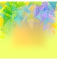 Abstract yellow background with triangles vector