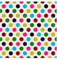 Seamless polka dots pattern texture vector
