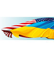 Usa ukraine flag vector