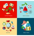 Holiday icons flat set vector