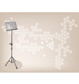 Music stand brown background vector