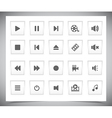 White media buttons vector
