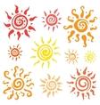 Sun set hand drawn vector