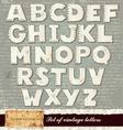 Detailed alphabet vector