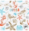 Sea coast pattern background vector