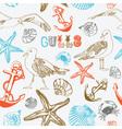 Sea coast pattern background vector