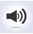 Speaker volume icon gray colors vector