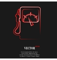 Gas fuel station flat modern web button and space vector