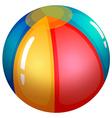 An inflatable beach ball vector
