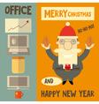 Funny cartoon santa claus boss vector