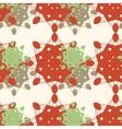 Seamless snowflakes background mandala like vector
