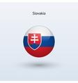 Slovakia round flag vector
