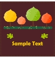 Colorful autumn trees card vector