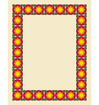 Art nouveau border photo frame vector