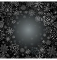Abstract snowflake of geometric shapes vector