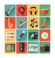 Flat icons music vector