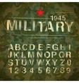 Military vintage alphabet vector