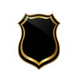 Abstract golden badge vector