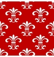 Red seamless pattern with floral elements vector