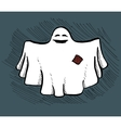 Hand drawn ghost vector