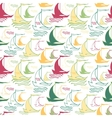 Seamless nautical pattern with decorative sailing vector