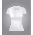 White women shirt vector