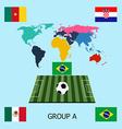 Group a - brazil mexico croacia cameroon vector