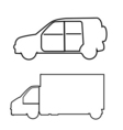 Transport symbols vector