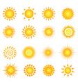 Sun symbols vector