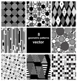 Graphic set of different patterns vector
