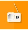 Radio web icon flat design vector