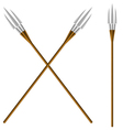 Crossed fantastic forks vector