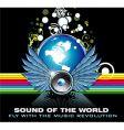 Music world rainbow background vector