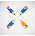 Set of four short pencils design vector