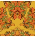 Seamless exotic flower pattern in vector