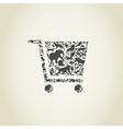 Cart an animal vector