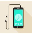 With a mobile phone device in flat style with a vector