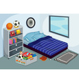 Childrens bedroom vector