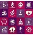 Wine emblems set vector