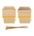 Noodle boxes vector